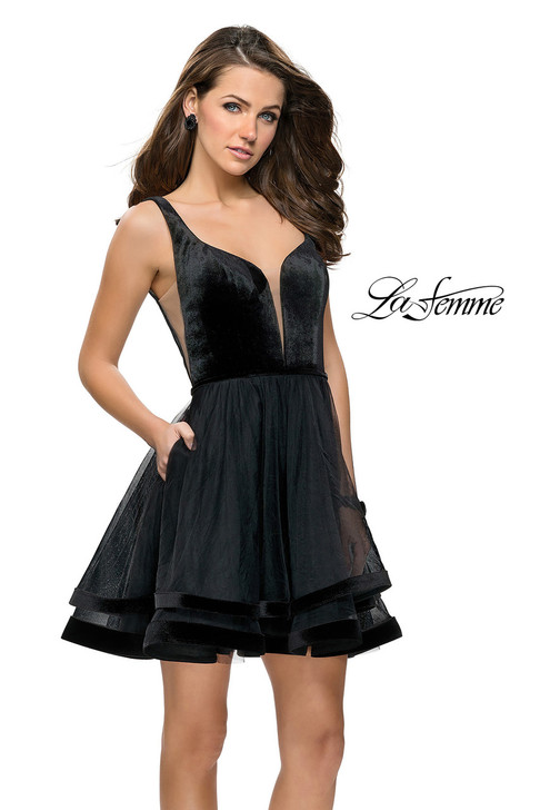 La Femme 26701 Short Dress