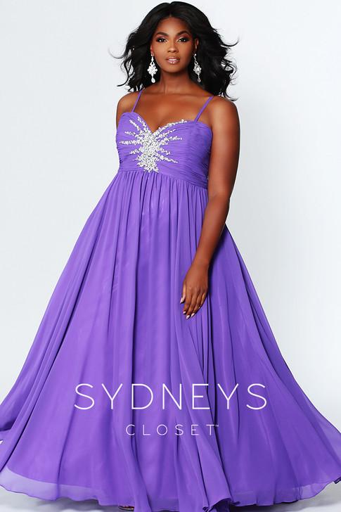 Sydney's Closet SC7071 plus size prom dress.