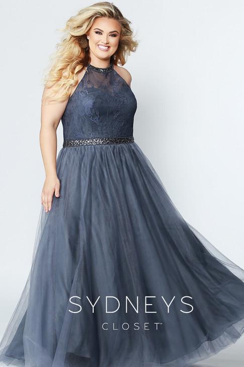 Sydney's Closet SC7247 plus size prom dress.