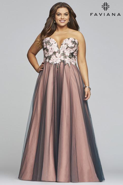 Faviana 9467 Plus Size Ballgown Dress
