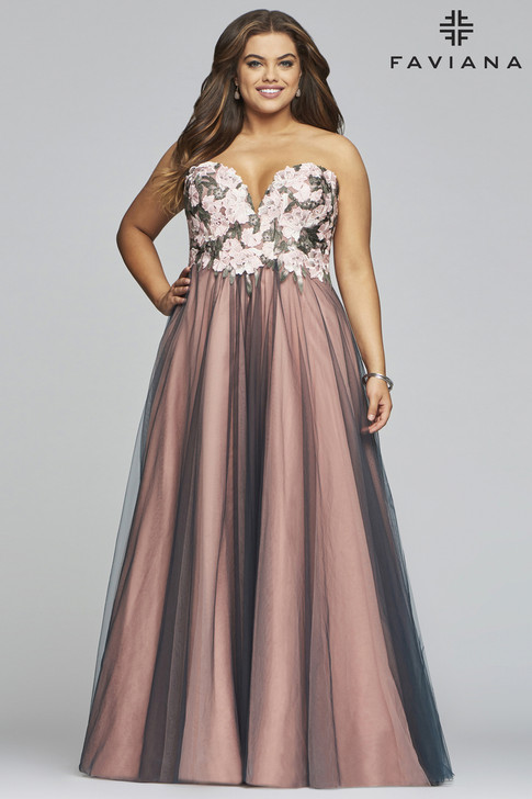 Faviana 9467 Plus Size Ballgown Dress