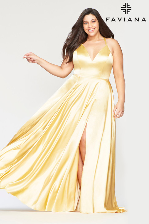 Faviana 9469 Satin Plus Size Dress