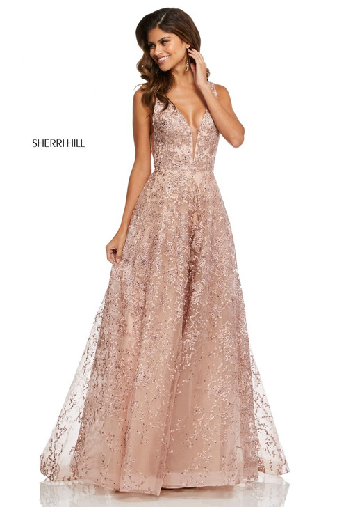 Sherri Hill 52877 Blush Ballgown Dress