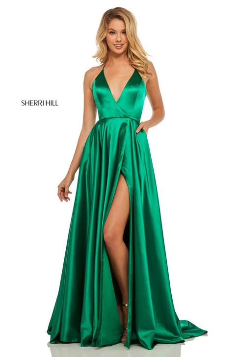 Sherri Hill 52921 Satin Dress