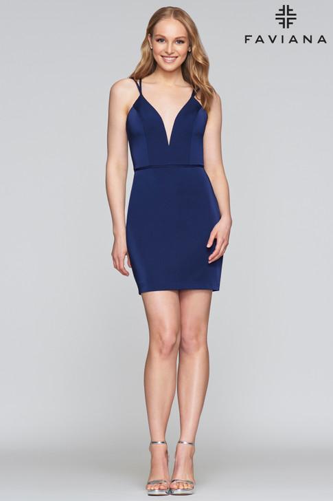 Faviana S10358 Jersey Short Cocktail Dress