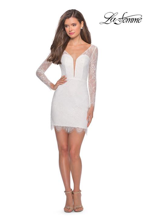 La Femme 28233 long sleeve dress