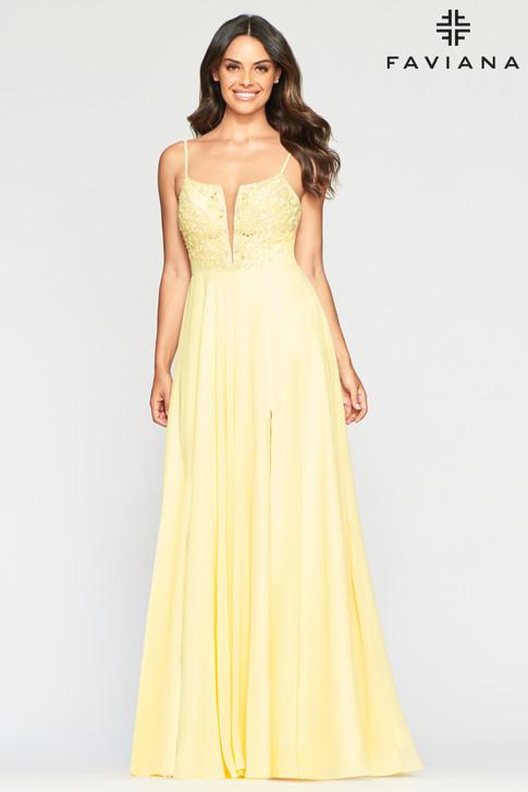 Faviana S10415 Chiffon Dress