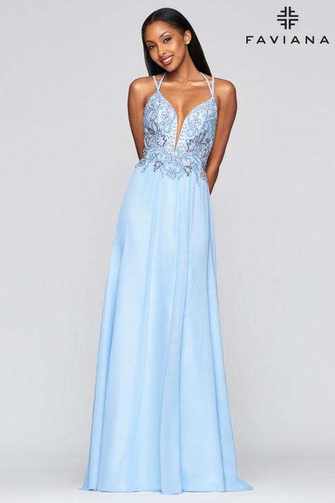 Favian S10416 Flowy Chiffon Dress