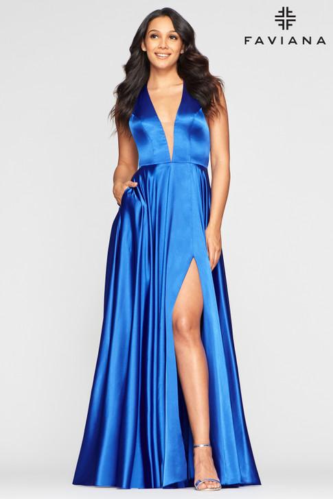 Faviana S10403 Satin Dress