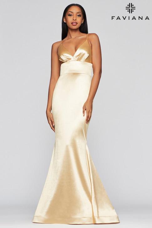 Faviana S10410 Satin Mermaid Dress