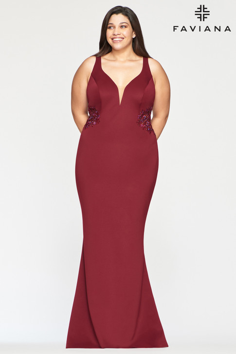 Faviana 9492 Plus Size Mermaid Dress