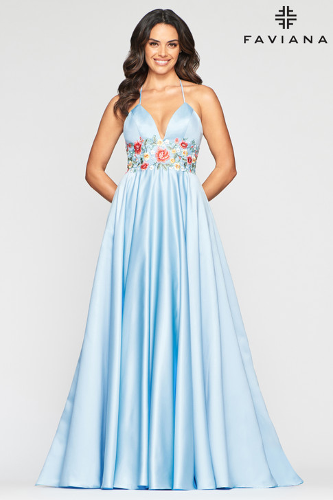 Faviana S10423 Satin Ballgown Dress