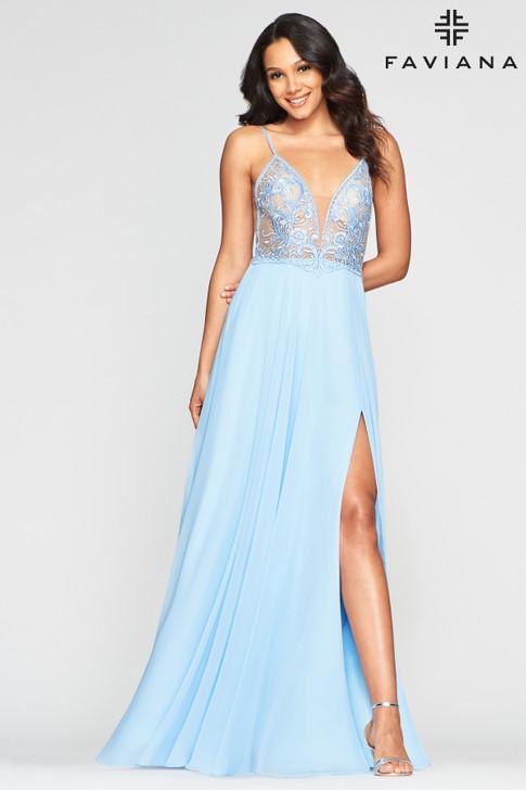 Faviana S10431 Chiffon Dress