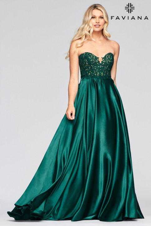 Faviana S10430 Satin Ballgown Dress