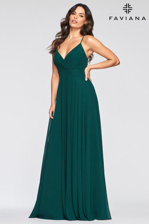 Faviana S10466 Empire Chiffon Dress