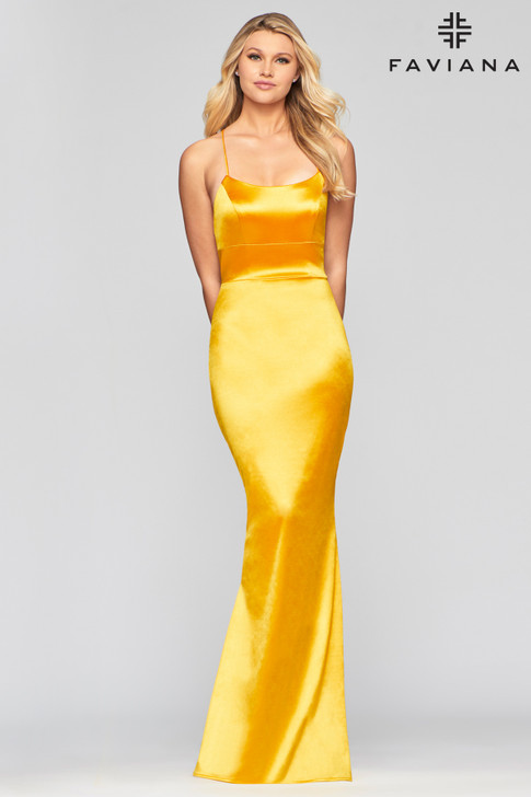 Faviana S10375 Fitted Satin Dress