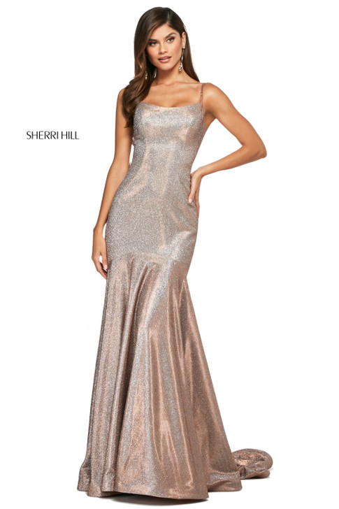 Sherri Hill 53370 Glitter Fit and Flare dress