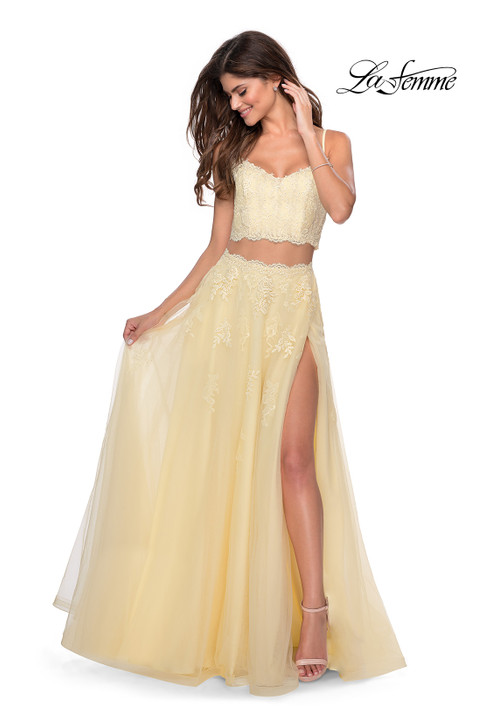 La Femme 28271 two piece prom dress