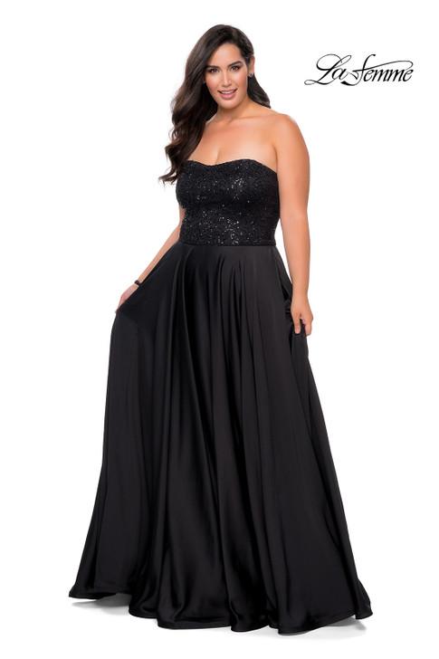 La Femme 28741 Plus Size Prom Dress