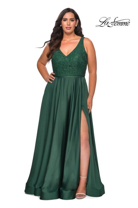 La Femme Curve 29004 Flowy Plus Size Dress