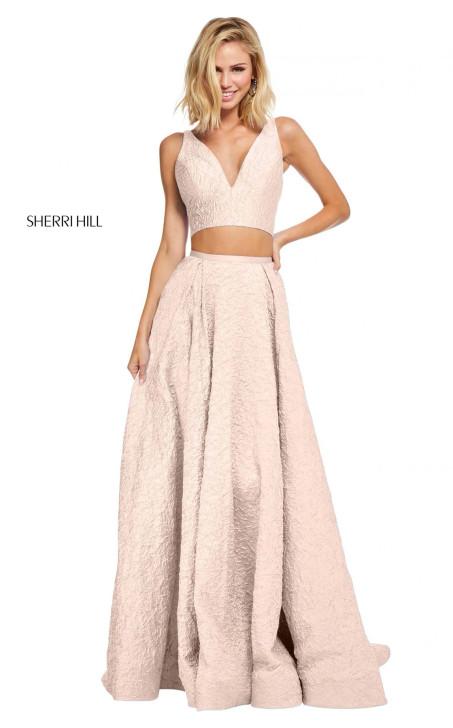Sherri Hill 52642 Blush Size 2