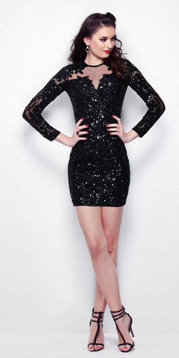 Primavera 1301 Sequin Cocktail Dress
