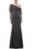 ONE SHOULDER FLOOR LENGTH DRESS BAN1812-1083
