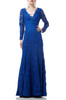 FLOOR LENGTH DEEP V-NECK DRESS BAN1908-0514