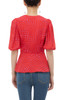 SURPLICE NECK WITH PUFF SLEEVE WRAP TOP BAN1911-0087
