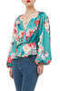 PUFF SLEEVE V-NECK TOP BAN1910-0870