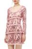 ROUND NECK SEQUINED DRESS BAN1810-0975