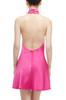 HIGH NECK BACKLESS DRESS BAN1911-0179