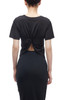ROUND NECK TWIST KNOT ON THE BACK SHIRT TOP BAN2006-0314