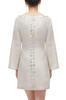 SQUARE NECK WITH BUTTON EMBELLISHED DRESS BAN2011-0465