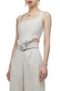 SQUARE NECK WITH ZIP UP BACK CROPPED STRAP TOP BAN2011-0423
