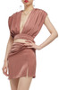 DEEP V-NECK WITH TIE ON THE BACK WRAP TOP BAN2012-0220