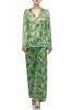 HIGH WAISTED WITH DRAWSTRING WIDE LEG PAJAMA PANTS BAN2101-0409