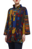 HIGH NECK WITH HALF BUTTON DOWN TEE TOP BAN2007-0135