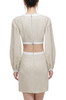ROUND NECK WITH ZIP UP BACK DRESS BAN2103-0144
