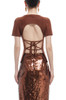 ROUND NECK WITH LACE UP BACK TOP BAN1907-0622
