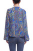 ROUND NECK WITH KEY HOLE FRONT AND BOUFFANT SLEEVE TOP BAN2105-0577