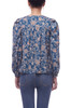 ROUND NECK WITH BOUFFANT SLEEVE BUTTON DOWN SHIRT TOP BAN2104-0736
