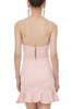 HIGH WAISTED MINI LENGTH STRAP FALBALA DRESSES P1904-0193-PP
