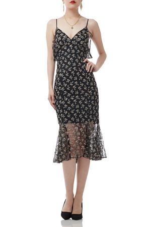 BELOW THE KNEE STRAP DRESS BAN1812-1100