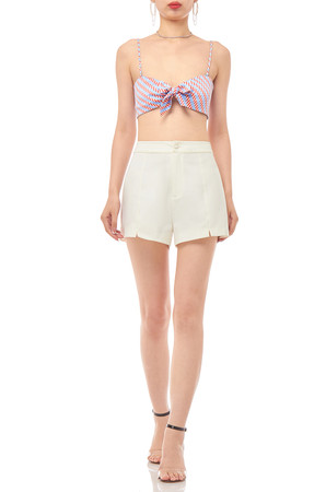 TIE FRONT CROPPED STRAP TOP BAN1911-0079