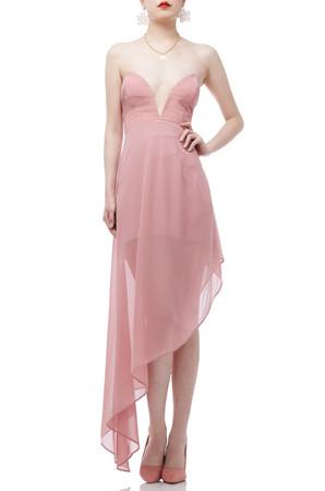 STRAPLESS HIGH-LOW DRESS BAN1812-0600