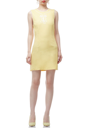 ROUND NECK A-LINE DRESS BAN2004-0166
