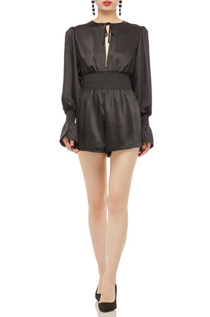 TIE UP NECK ROMPER BAN2007-0529