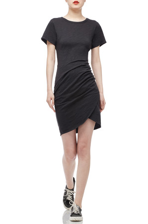 ROUND NECK ASYMETERICAL DRESS BAN2006-0274