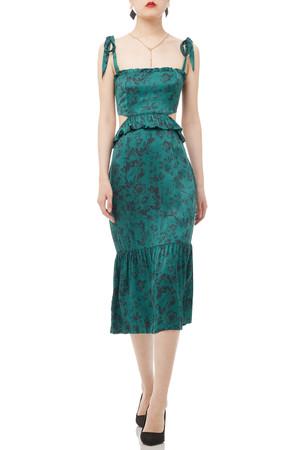 PEPLUM STRAP DRESS BAN1808-0327